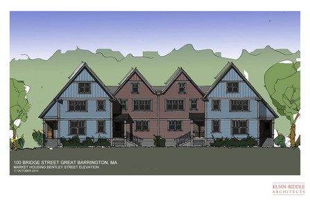 Rendering of Bentley Street Townhouses