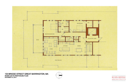 River Condominium Penthouse Floor Plan