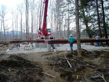 Pier Construction in Flood Plain