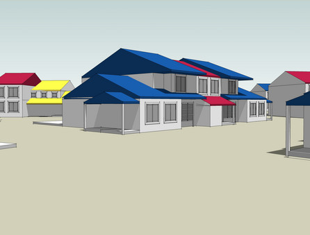 Original Homeownership Rendering of Cluster Homes